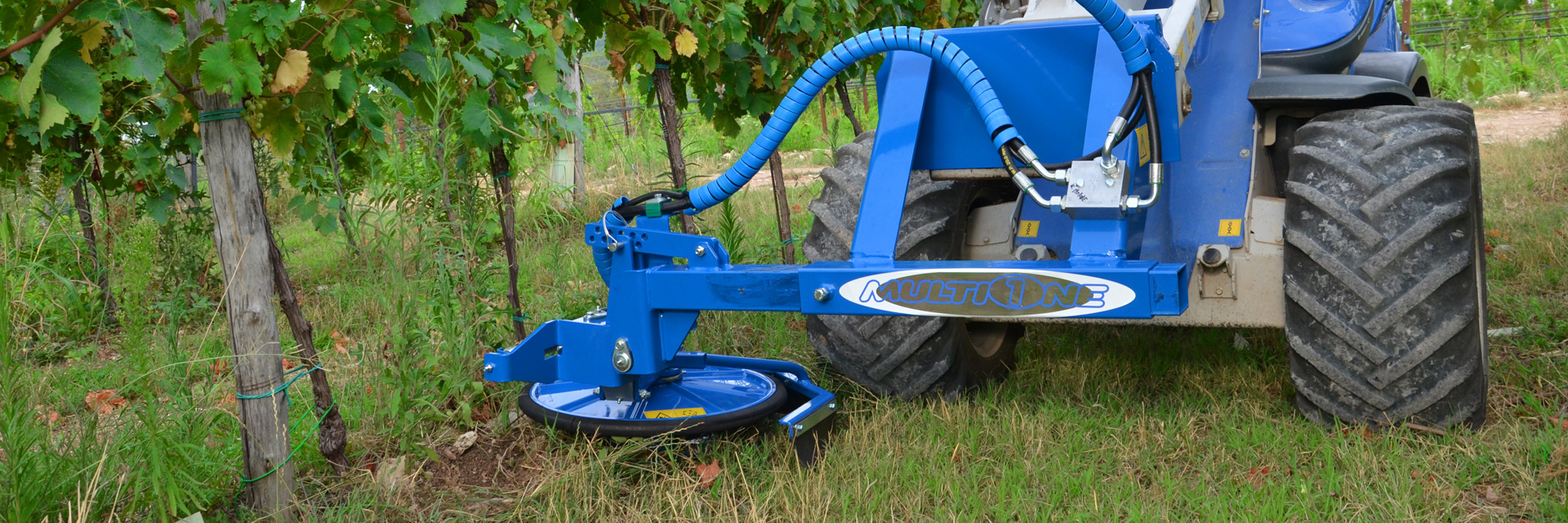 Multione-inter-row-mower for mini loaders