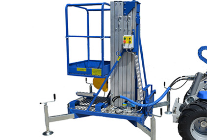 lifting platform attachment for mini loader multione