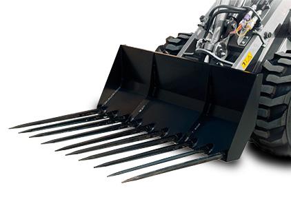 Multione-manure-fork-for mini loader