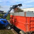 Heavy duty silage fork for mini loaders MultiOne 03