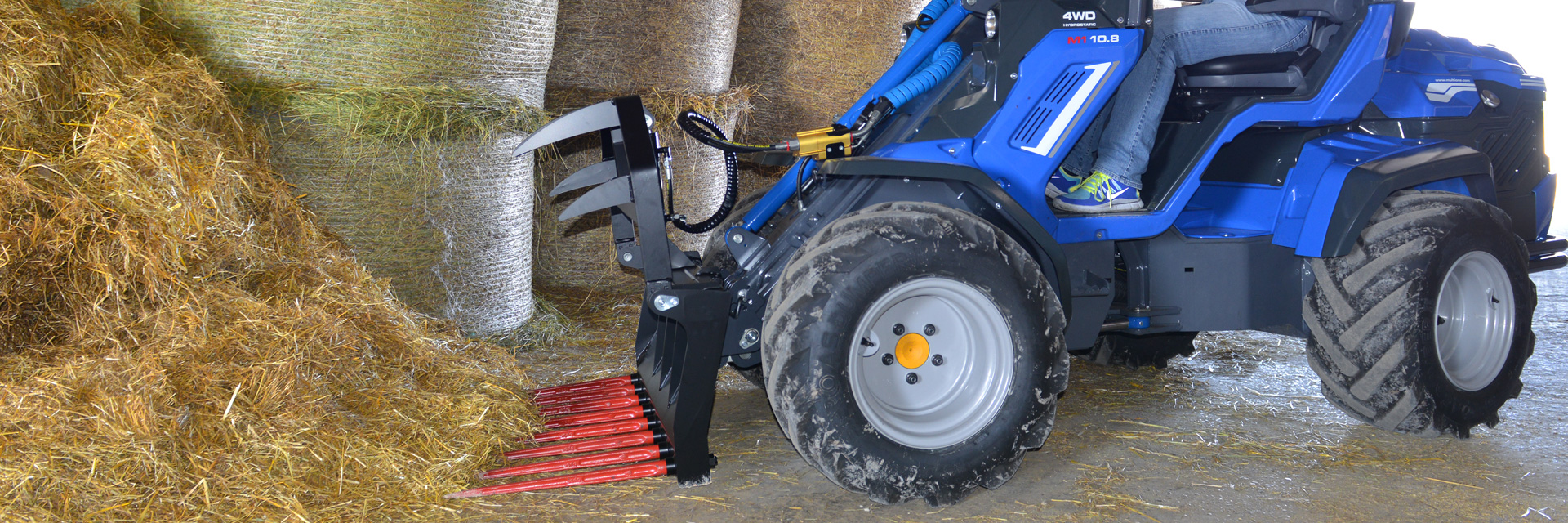 Multione-silage-fork for mini loader