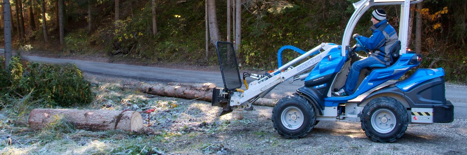 Multione mini excavator winch attachment