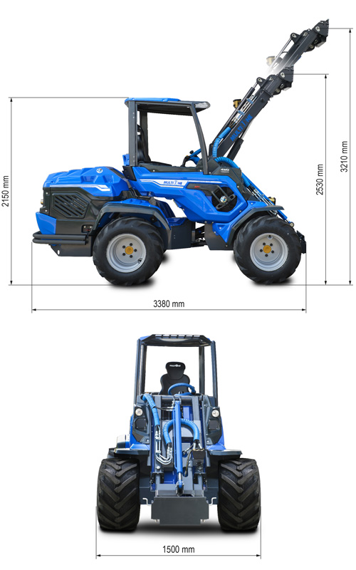 Multione 10.8 Mini Articulated Loader Lift Height
