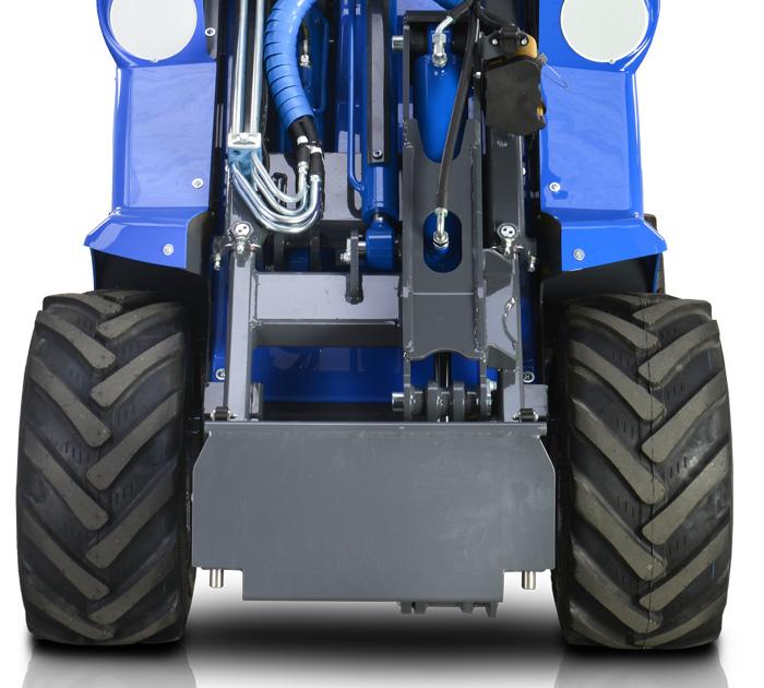 Multione mini articulated loader-front-side