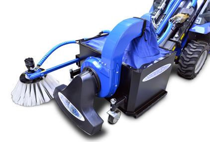 leaf vacuum attachment for mini loader multione