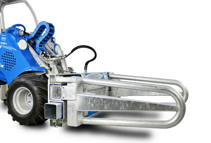 Square bale clamp attachment for mini loader Multione